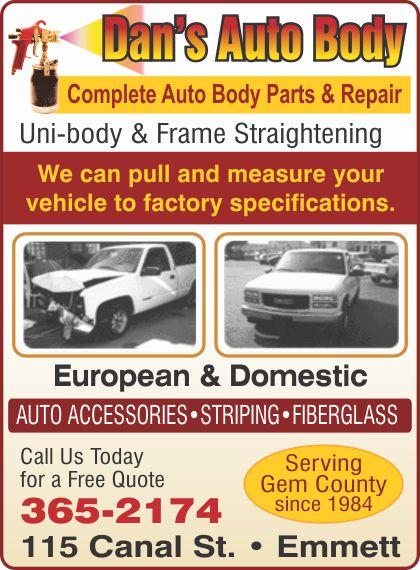 Auto Body, Paint Collision Repair - Emmett Connections