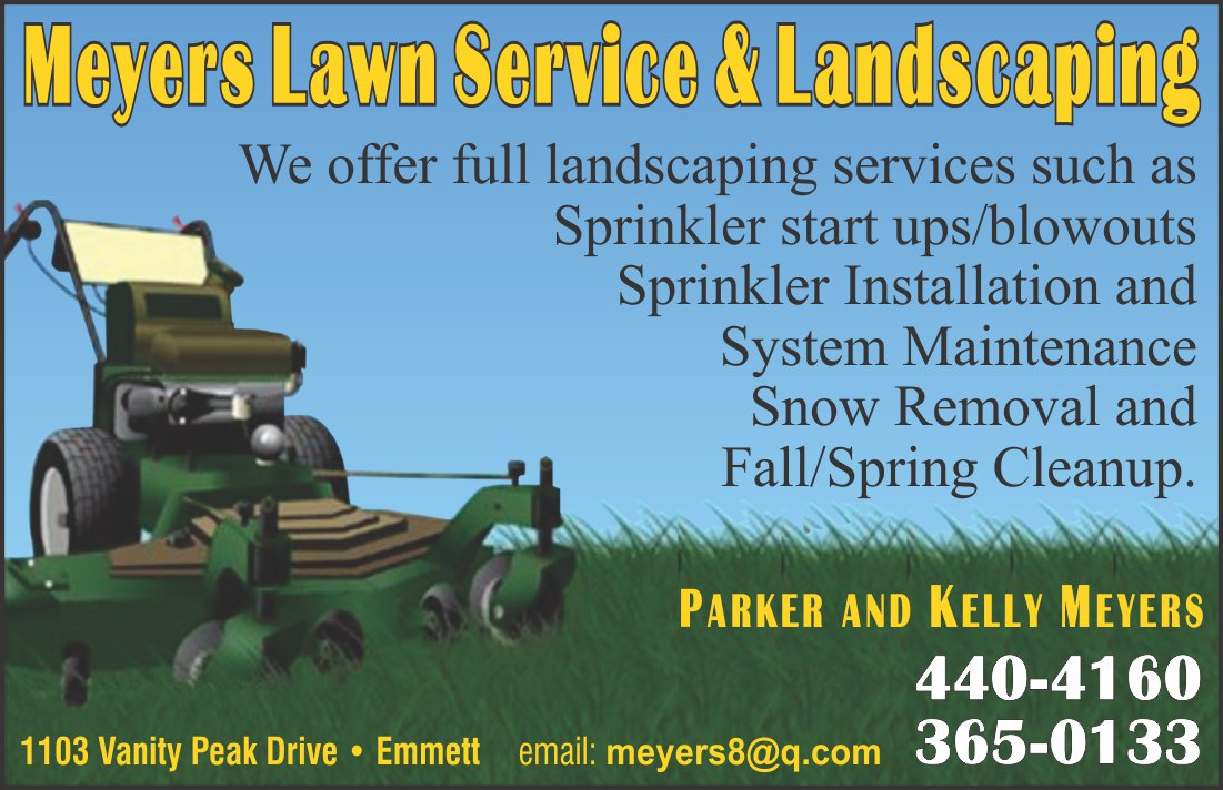 Lawn mowing yard care sprinklers maintenance emmett for Lawn and garden maintenance services